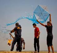 اطلاق بالونات حارقة من غزة على اسرائيل