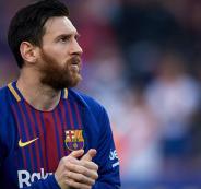 ميسي يوعد جماهير برشلونة بدوري الابطال