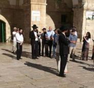 وزير الزراعة الاسرائيلي يقتحم الاقصى