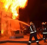 اصابات بالاختناق اثر حريق ببيت لحم