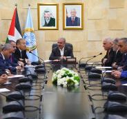 اشتية خلال لقاء ممثلي القطاع الخاص في الخليل