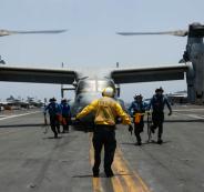 القوات الامريكية في الخليج العربي