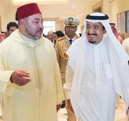 الملك المغربي والعاهل السعودي