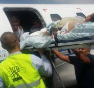 بالصور : وصول طفل فلسطيني من بيت لحم عبر طائرة خاصة للعلاج في بيت لحم