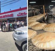 طوابير الخبز في لبنان