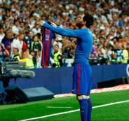 فرحة ميسي امام ريال مدريد