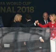امير قطر وزوجة الرئيس الفرنسي