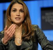 الملكة رانيا وفلسطين