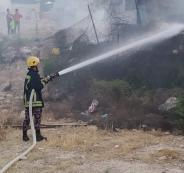 حريق منزل في جنين