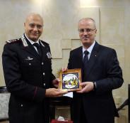 رئيس الوزراء ووفد من الشرطة الايطالية