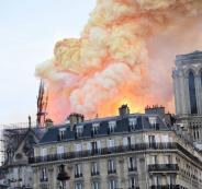 حريق كاتدرائية نوتردام التاريخية في فرنسا