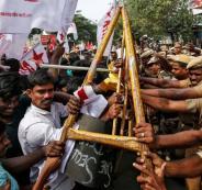 التظاهرات في الهند
