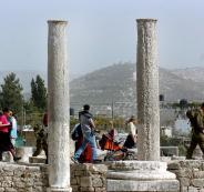 تفجير مواقع اثرية في سبسطية