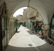 اغلاق المحلات التجارية في البلدة القديمة بالخليل