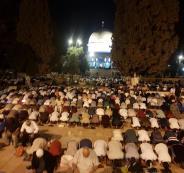 صلاة التراويح والفجر في المسجد الاقصى