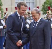 الرئيس الفرنسي وعون