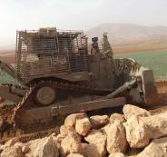 تجريف اراضي المواطنين شرق الخليل