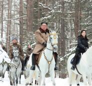 الزعيم الكوري الشمالي والفرس الأبيض