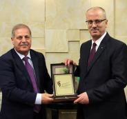 رامي الحمد لله ووفدا من مجلس الهيئة المستقلة للانتخابات الأردنية