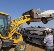 اتلاف مركبات غير قانونية بالضفة الغربية