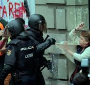 مواجهات في برشلونة