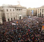 تظاهرات في كتالونيا