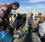 انفجار اسطوانة غاز 48 كيلو بعد سقوطها من سيارة في بيت لحم