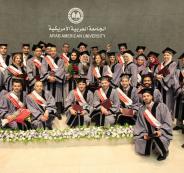 الجامعة العربية الأمريكية تحتفل بتخريج طلبة ماجستير إدارة الأعمال من جامعة اندانيا الامريكية