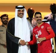 امير قطر ومنتخب البحرين