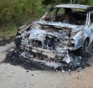 المستوطنون يحرقون سيارة في حوارة