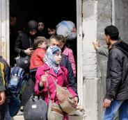 خروج مدنيين من الغوطة الشرقية