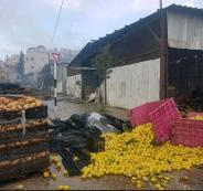 خسائر حريق سوق الخضار في بيتا جنوب نابلس مليون ونصف المليون شيقل