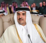 امير قطر وفلسطين