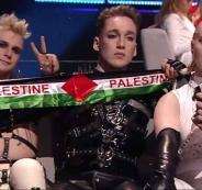 رفع العلم الفلسطيني في مسابقة يوروفيجن