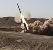 اطلاق صواريخ حوثية على  السعودية