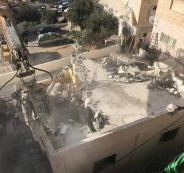 هدم منزل في القدس