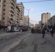 اغلاق طريق مخيم قلنديا