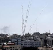 اطلاق صواريخ من غزة