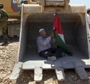 الاحتلال يصادر جرافة في الاغوار