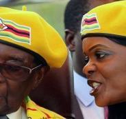 رئيس زيمبابوي وزوجته