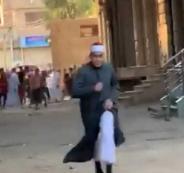 امام يهرب من الشرطة في مصر