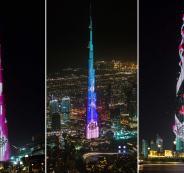 العاب الليزر في برج خليفة