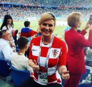 رئيسة كرواتيا تمنح بوتين وترامب قميص منتخب بلادها