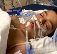 طفل مصاب بفيروس كورونا