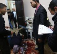 قاتل المغدورة ابو حسنين من غزة يمثل جريمته