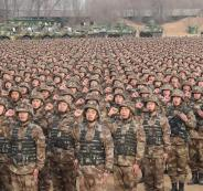 الجيش الصيني يزرع الأشجار