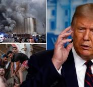 الدفاع الامريكية وترامب وتفجير بيروت