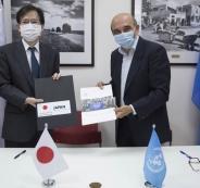اليابان واللاجئيين الفلسطينين