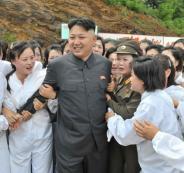 الزعيم الكوري الشمالي والفتيات