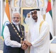 بن زايد ورئيس الوزراء الهندي